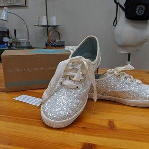 Keds x Kate Spade New York silver glitter